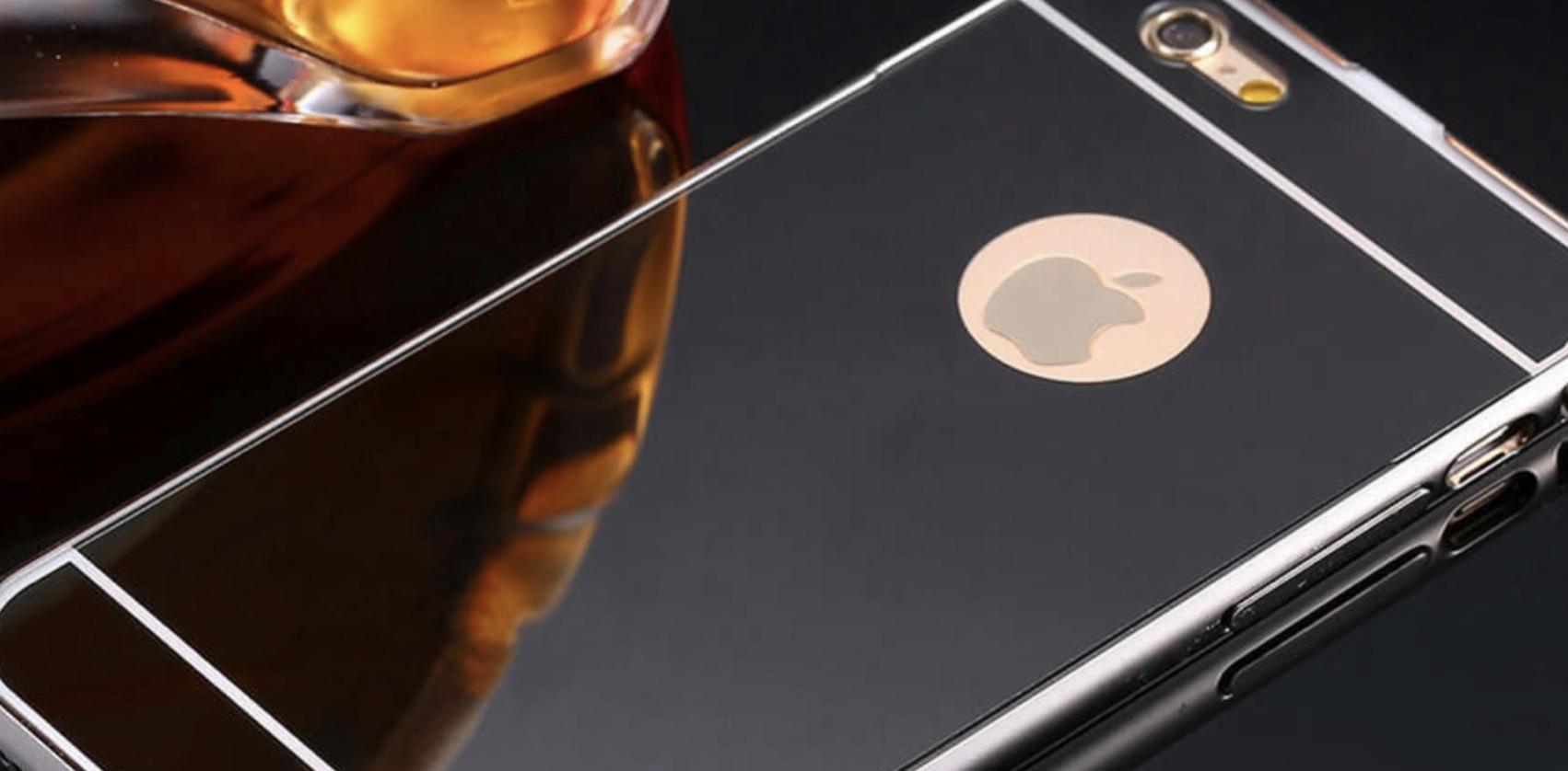 Den speilblanke iPhonen kan ligne på overflaten på dette dekselet.