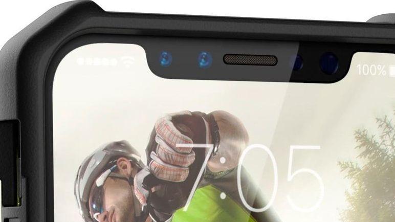 Her er iPhone 8 pakket inn i et deksel.