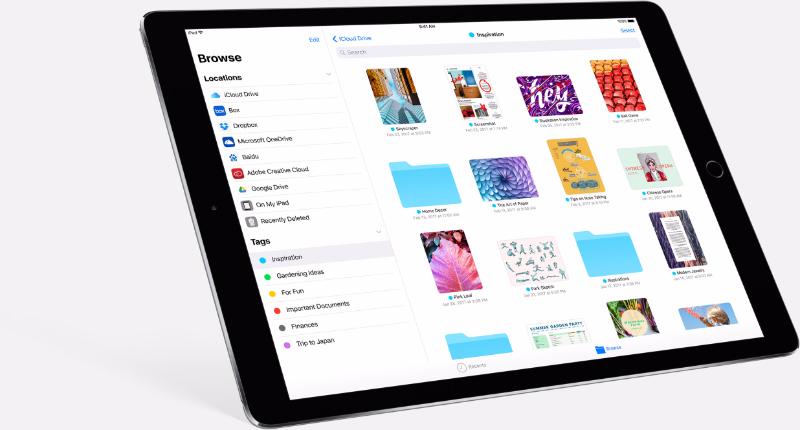 Filer-appen er en av nyhetene i iOS 11.