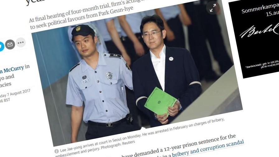 Lee Jae Yong var siktet for bestikkelser og underslag.
