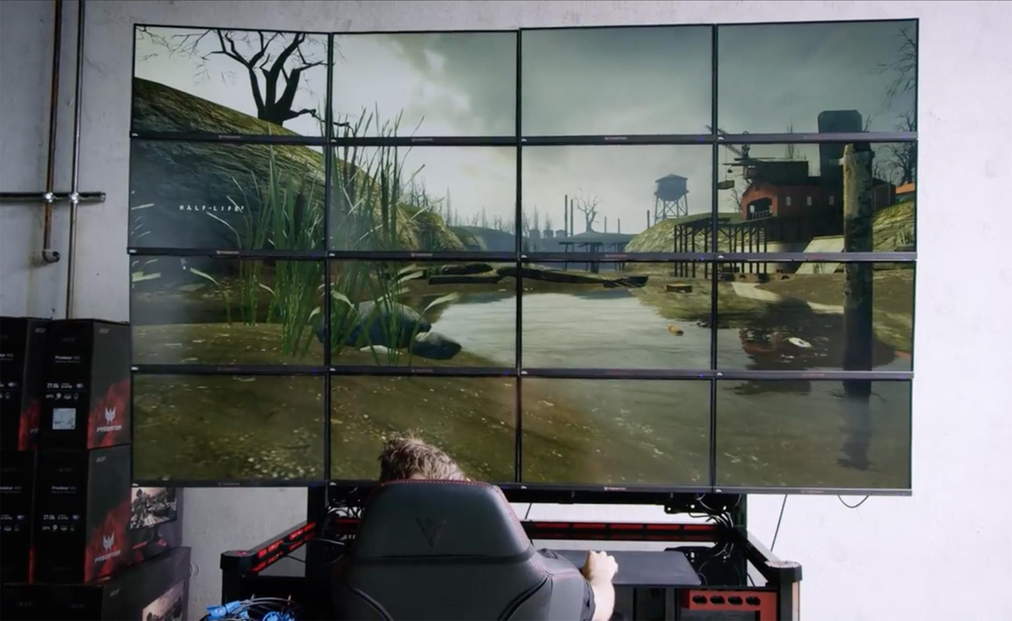 Det er teknisk mulig med dagens maskinvare å kjøre 16K-oppløsning på skjermene, men kan man spille på dette?