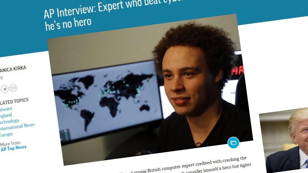Tidligere i år stanset 22-åringen WannaCry, nå er han pågrepet av FBI.