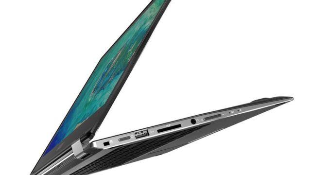 """Spin 5 with Windows 10 er nok en billig laptop som veier 1,5kg og har opp til 13 timer batterilevetid. Lanseres i september fra 899 euro for 13"""" og 999 euro for storebror på 15""""."""