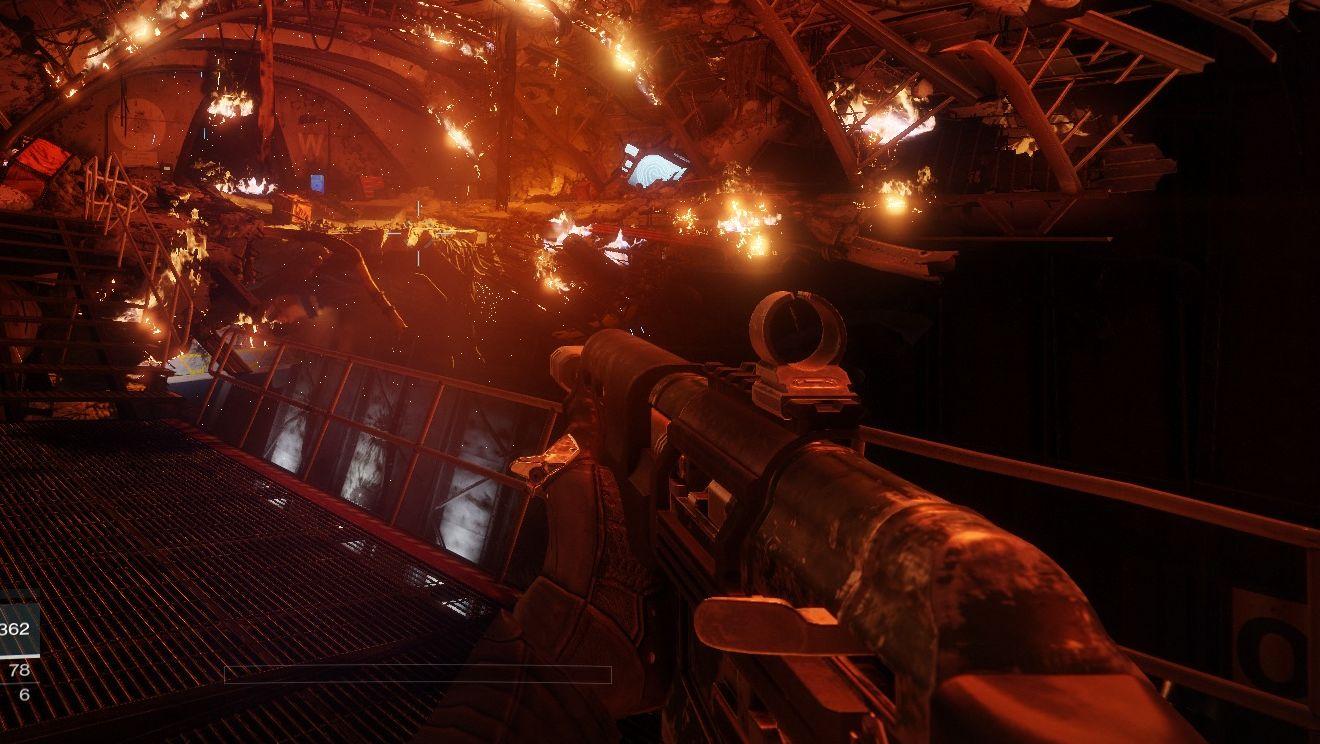Vi måler Destiny 2-ytelsen på PC. Dette er fra aller føreste del av spillet. Bildet er med SSAO 3D aktivert.