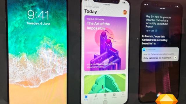 Låsskjerm, App Store og varsel.