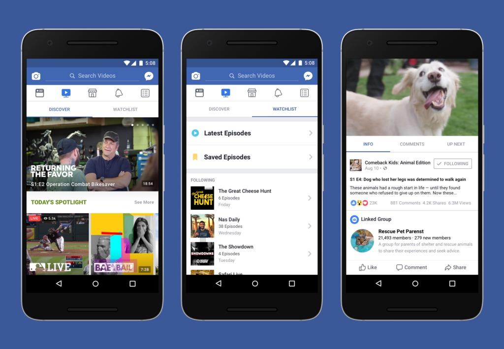 Watch er et dedikert sted å se video på Facebook, i stedet for at mer eller mindre tilfeldige klipp dukker opp i strømmen.