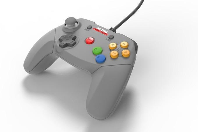 Her er en moderne versjon av N64-kontrolleren.