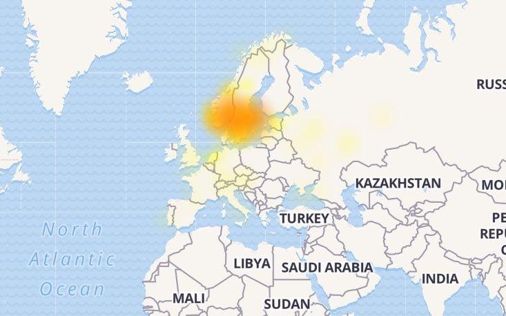 Outlook sliter i Norge og Sverige.