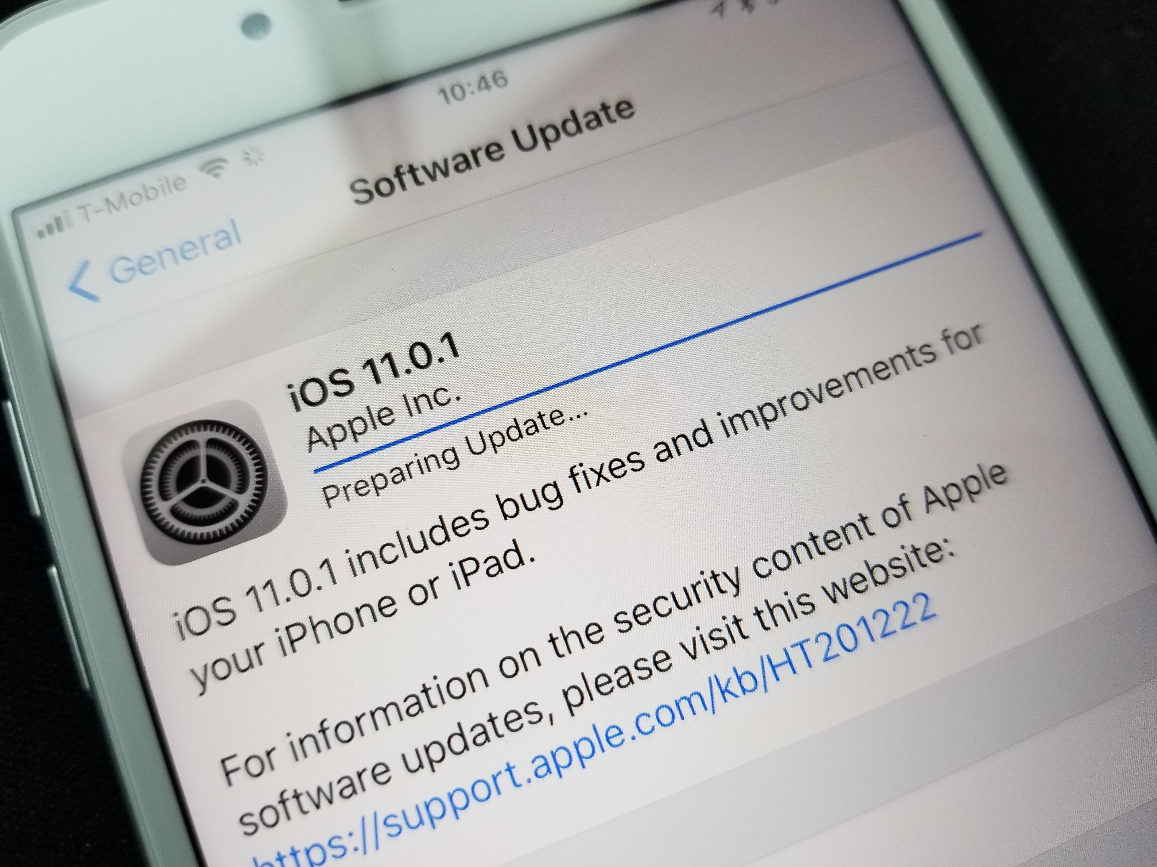 Apple har lansert iOS 11.0.1 til iPhone og iPad.