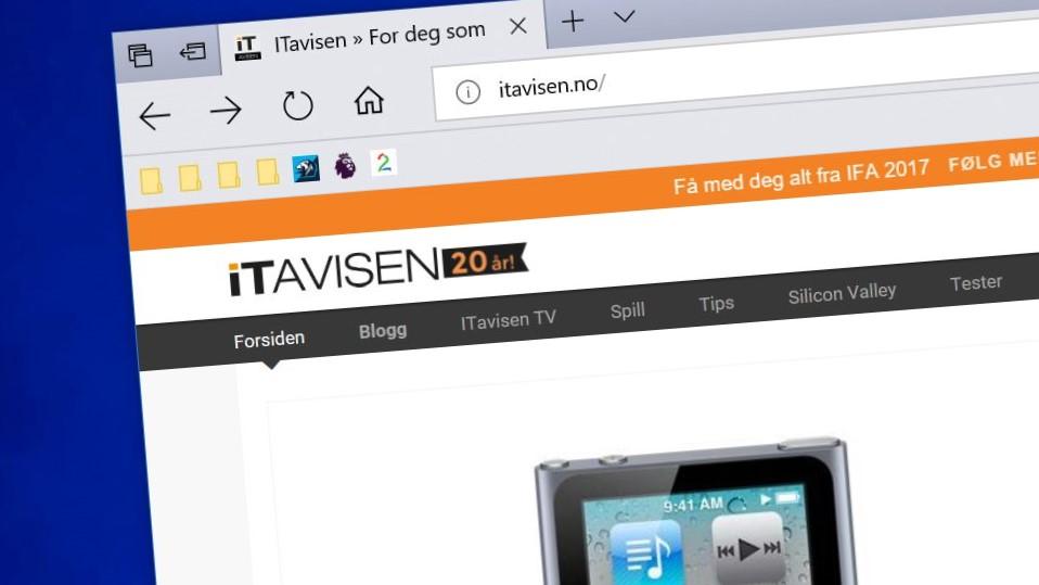 Mens Chrome, IE og Firefox går tilbake, øker Edge så vidt.