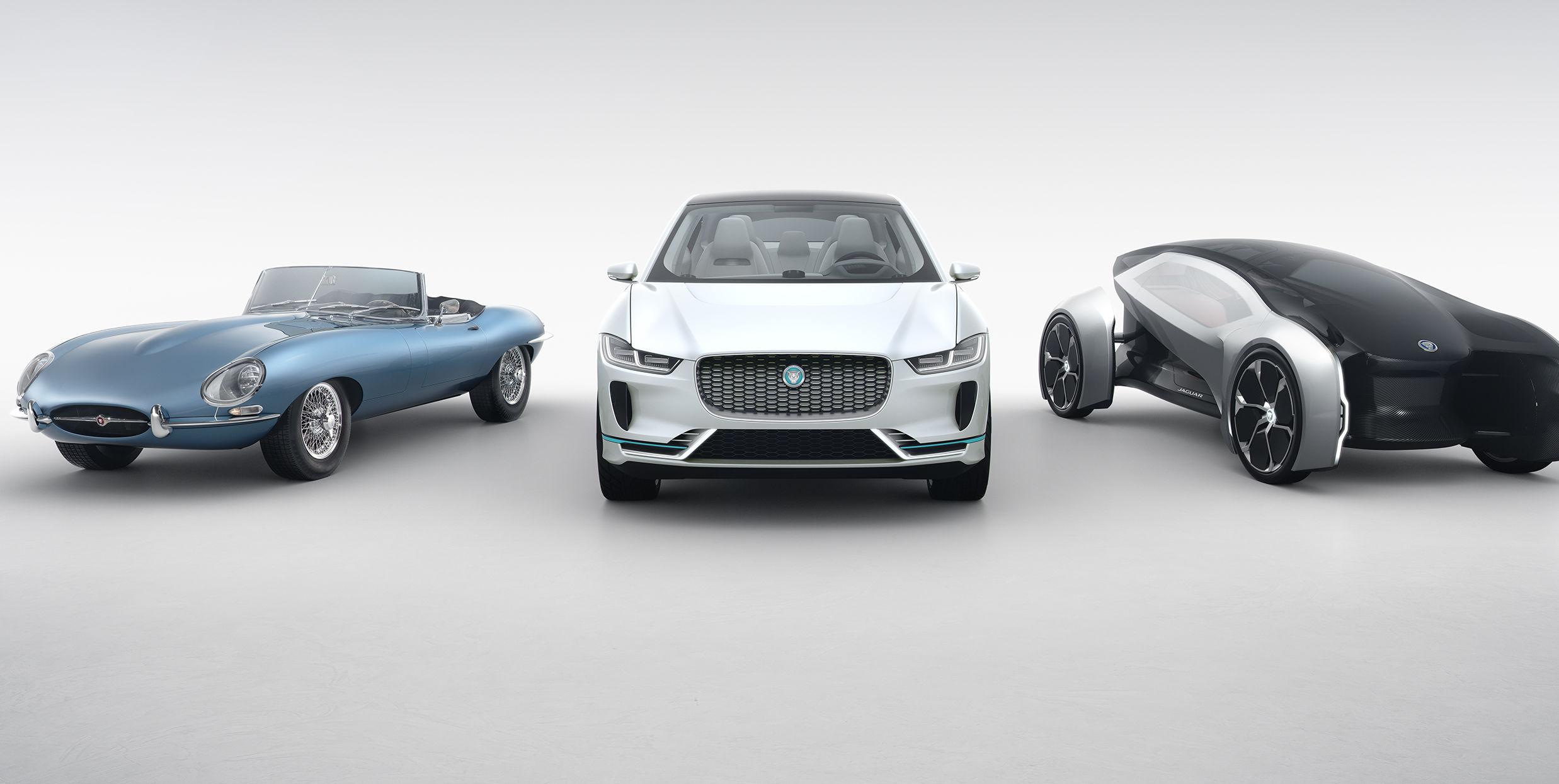 Jaguars elektriske visjon består av fortiden, nåtiden og fremtiden.