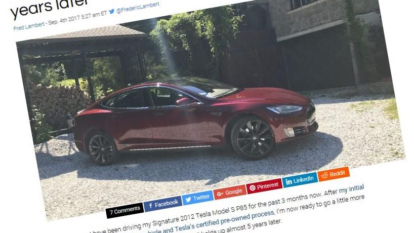 Teslaen fra 2012 holder seg godt.