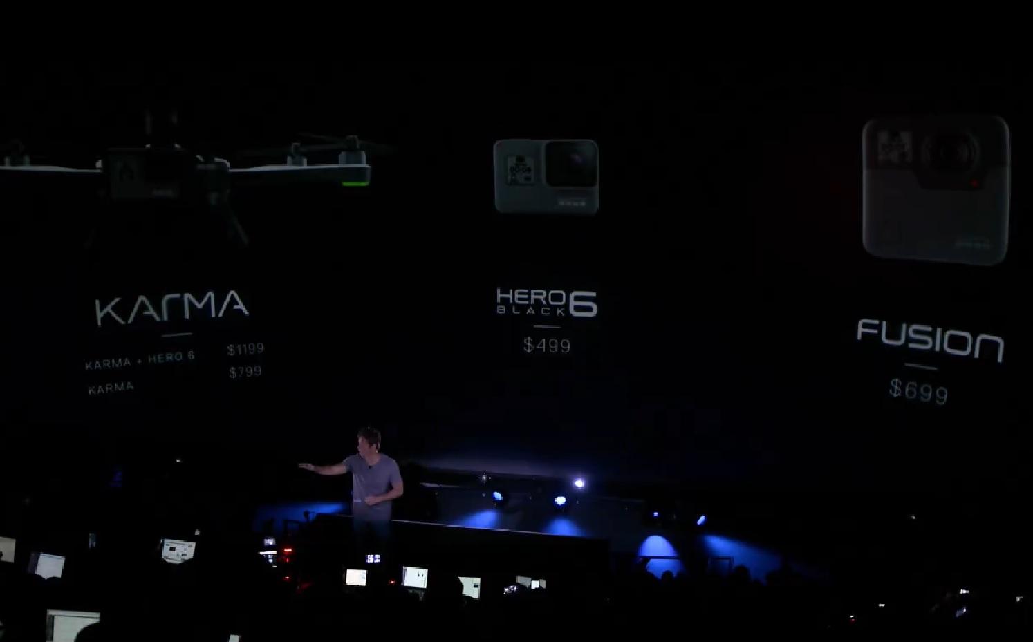 To nye produkter og en oppdatert pakke med GoPro 6 Black og Karma-dronen. Vi har ikke norske priser enda.