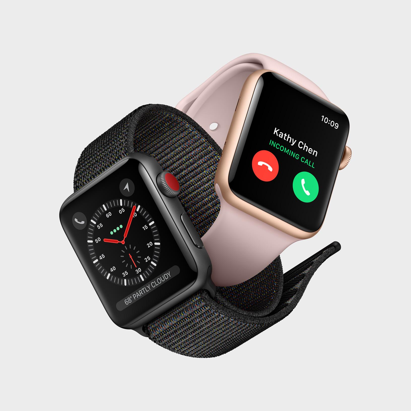 Apple Watch 3 LTE sliter med tilkoblingen.