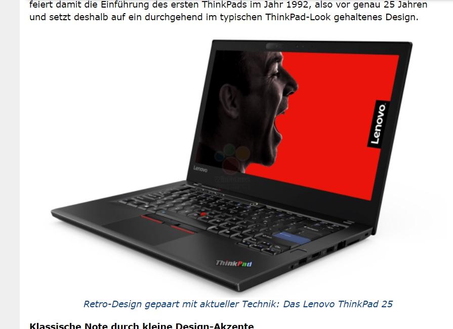 Tyske Winfuture har skaffet til veie bilder av Thinkpad 25.