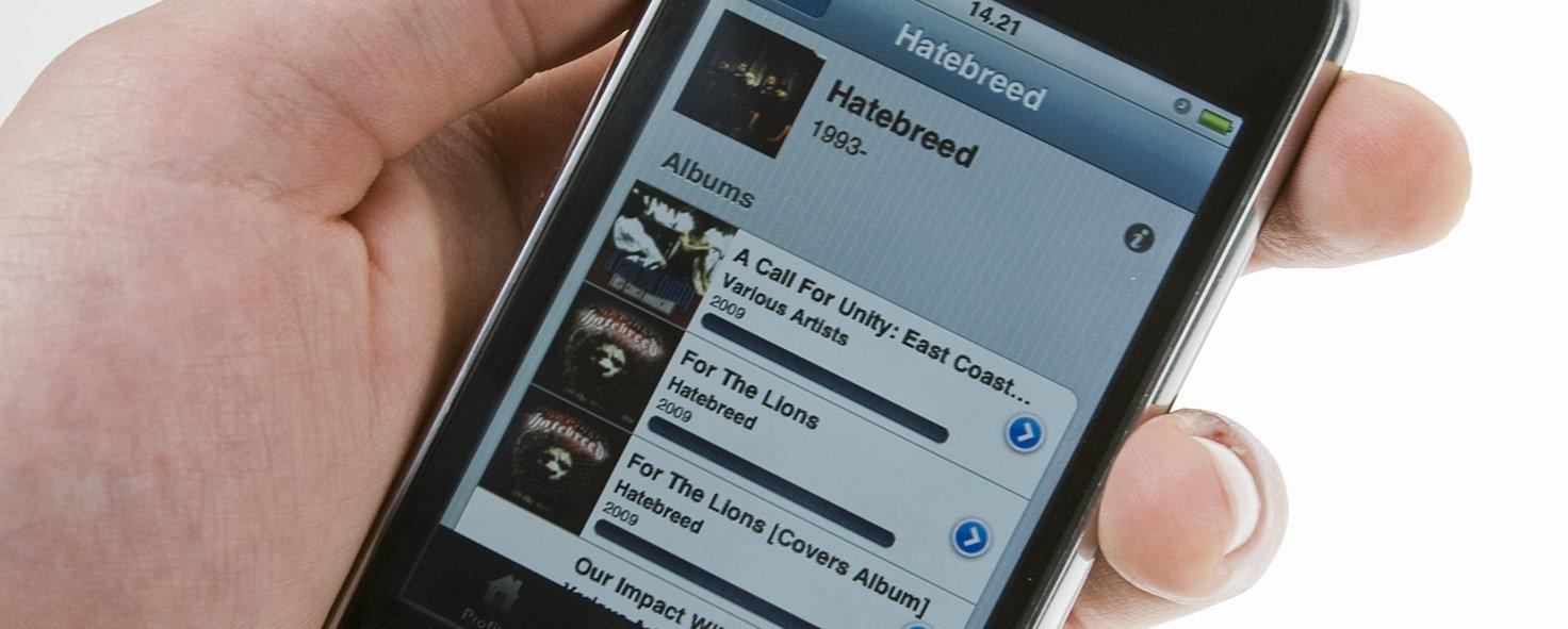 """Det var en tid før Spotify var en app på iPhone. Dette er """"Spot"""" fra 2009, en app som strømmet musikk fra Spotify på """"jailbreak""""-iPhones."""