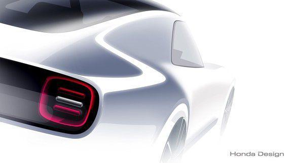 Her er første bildet av Hondas sportselbil.