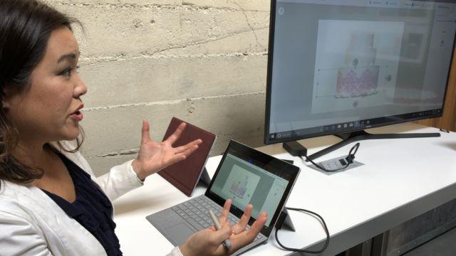 Vi fikk demonstrert hvordan Paint 3D kan brukes for blant annet å visualisere produkter for de produseres, i dette tilfellet bakes