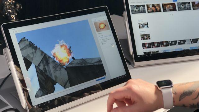"""Legg til morsomme effekter veldig enkelt med nye """"Photos"""". Her sprenger vi en fugl."""