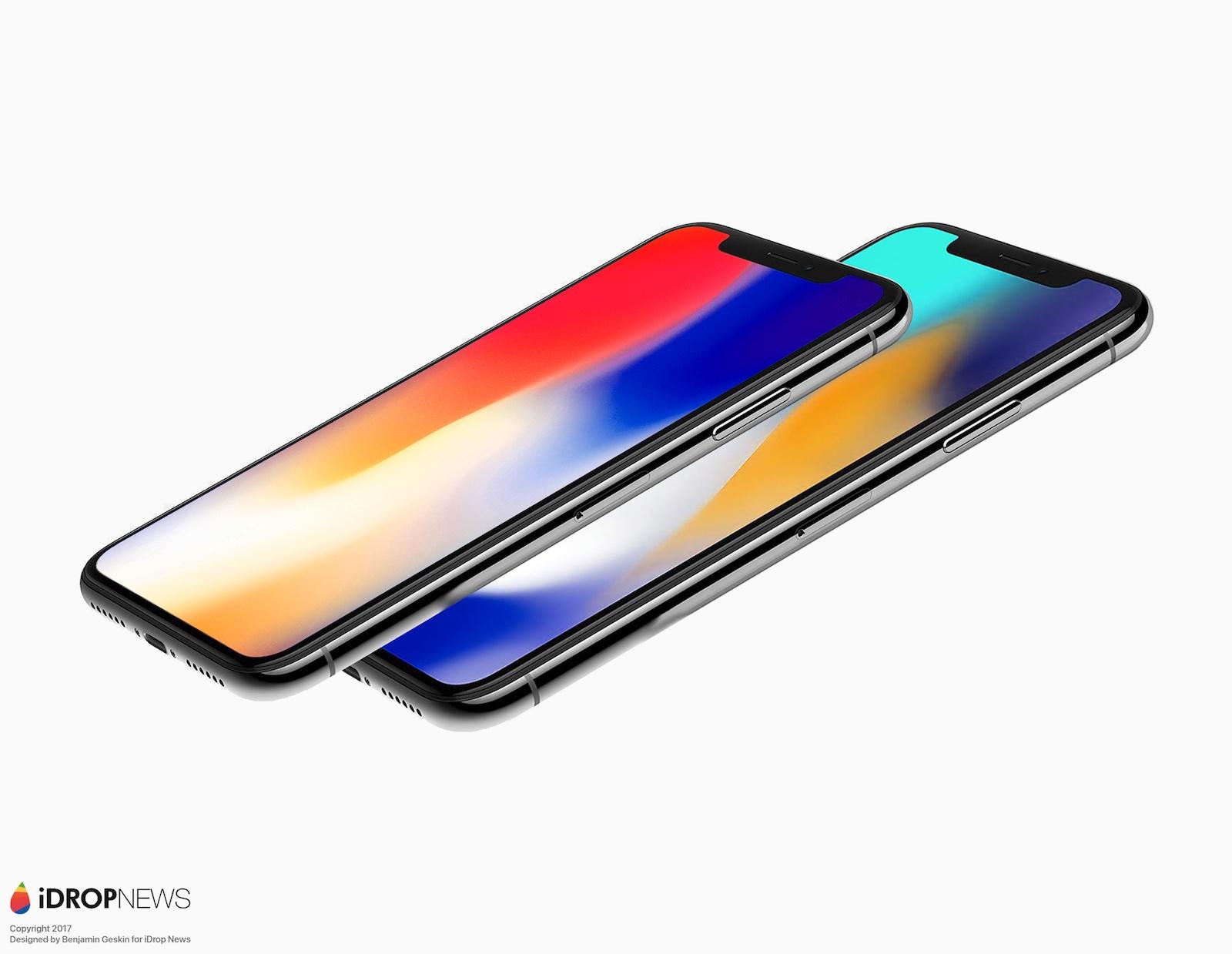 iPhone X og X Plus side om side.