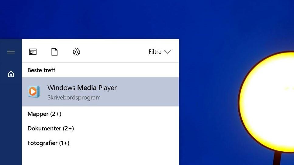 Her er Media Player fortsatt til stede, men hvor lenge?