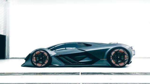 """Lamborghini ser inn i fremtiden med """"Terzo Millennio""""."""
