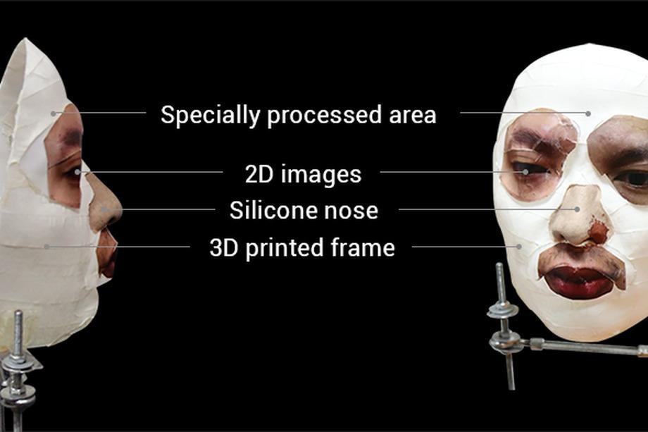 Med denne innretningen lyktes forskerne med å lure Face ID.