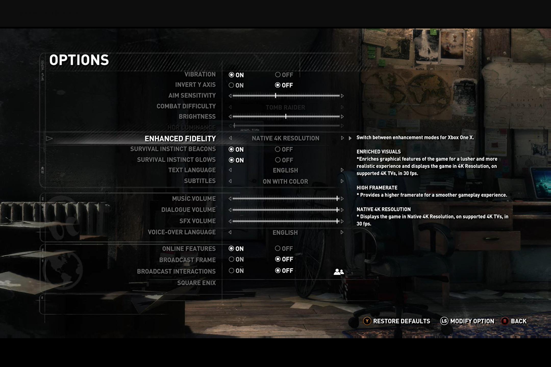 I enkelte spill kan man justere grafikkinnstillingene.