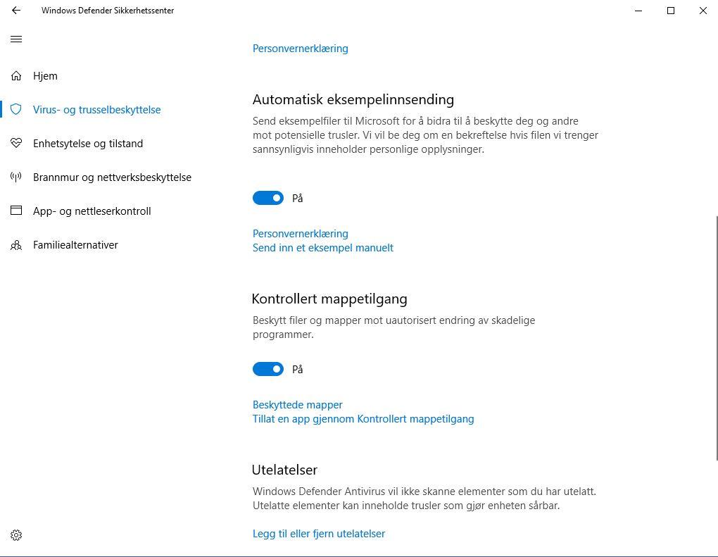 """Aktiver """"Kontrollert mappetilgang"""" for ekstra beskyttelse i Windows 10."""