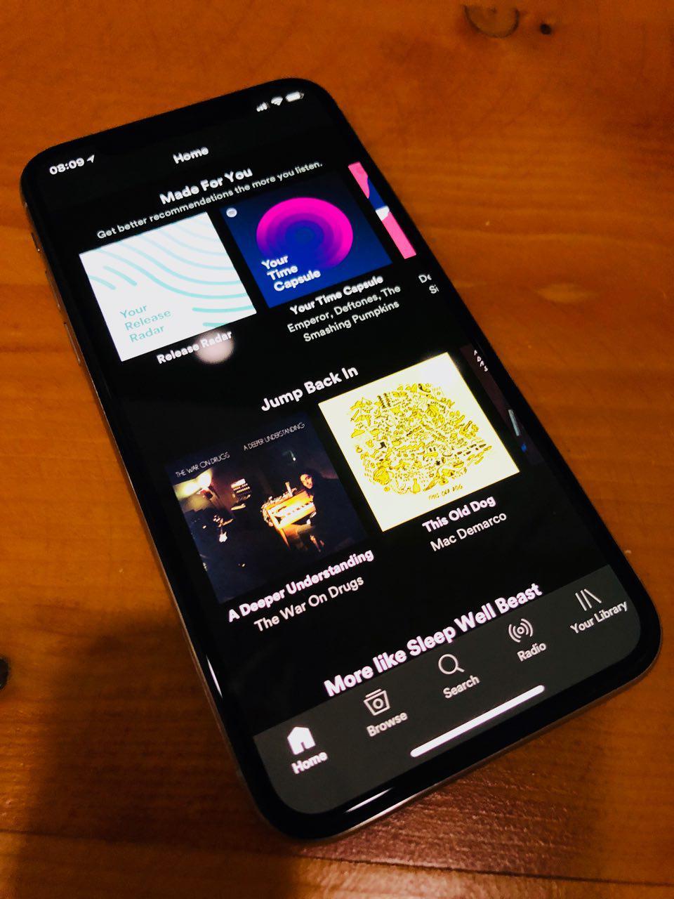 Spotify er oppgradert med iPhone X-støtte.