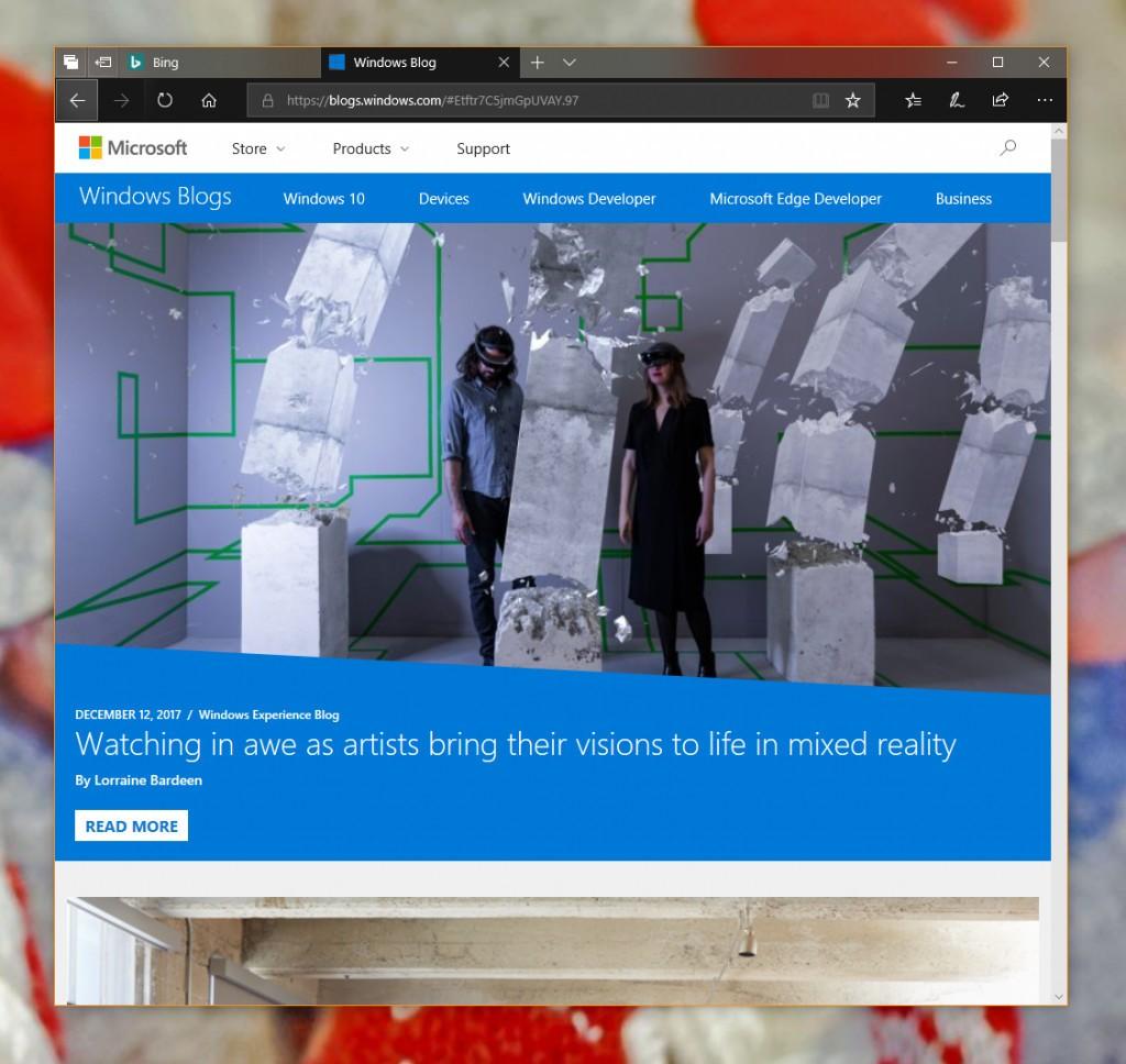 Edge er oppdatert med Fluent-designspråk.