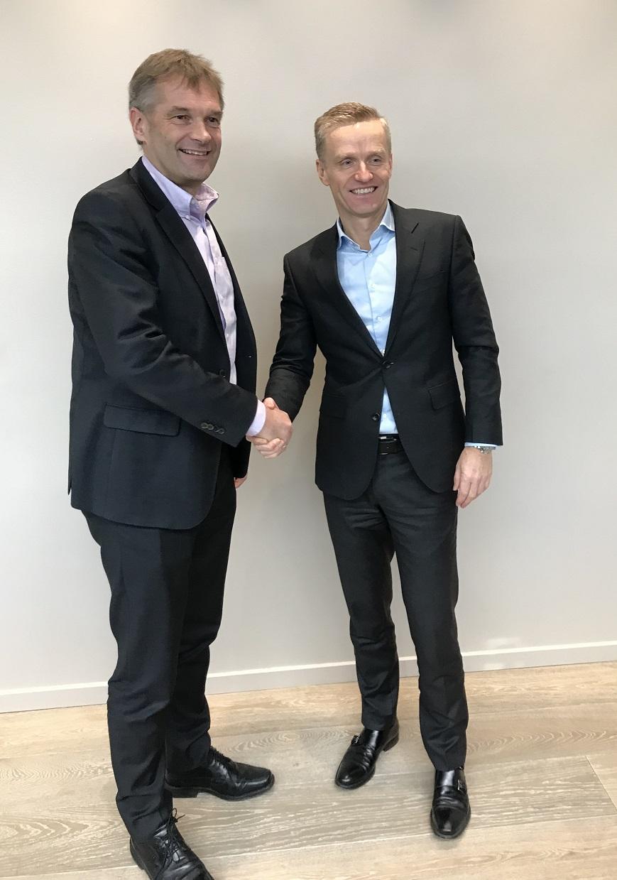 Abraham Foss (Telia) og Eirik Lunde (NextGenTel).