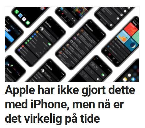 Bør iPhone X ha mørkemodus?