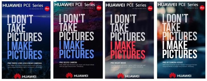 Jobber Huawei med en mobil med tre kameraer på baksiden?