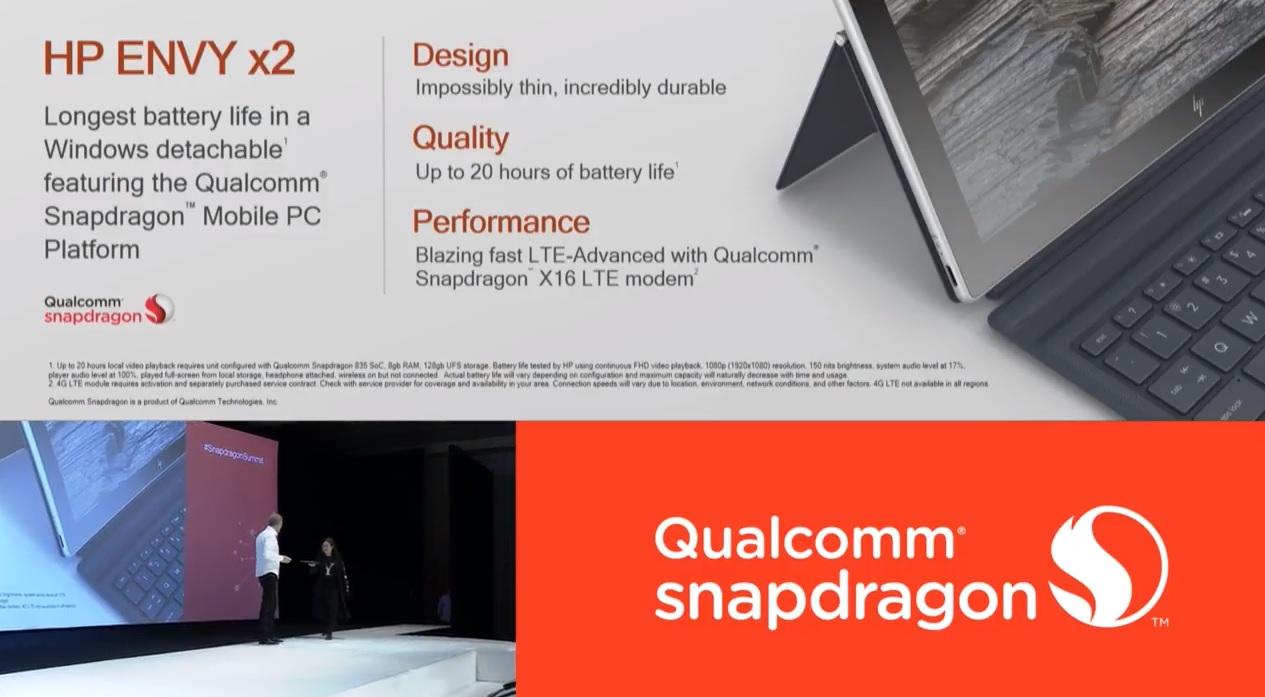 HPs nye Snapdragon 835-maskin med Windows 10.