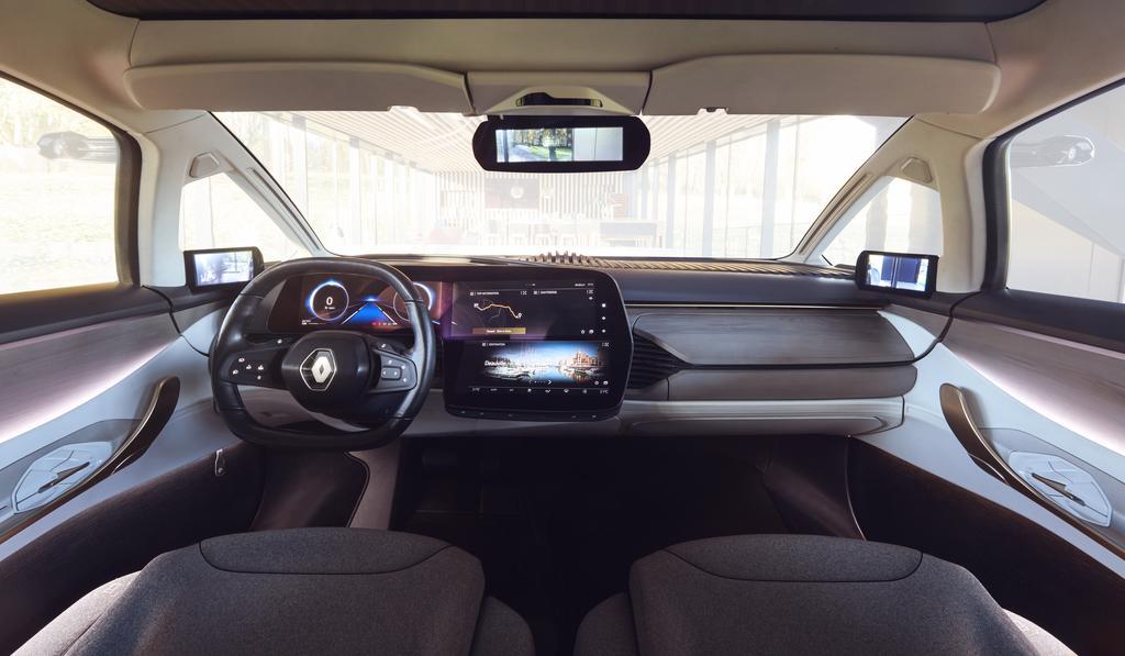 Det er kanskje ikke så lett å se at bilruten faktisk er en OLED-skjerm.