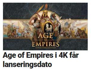 Age of Empires i 4K får lanseringsdato.