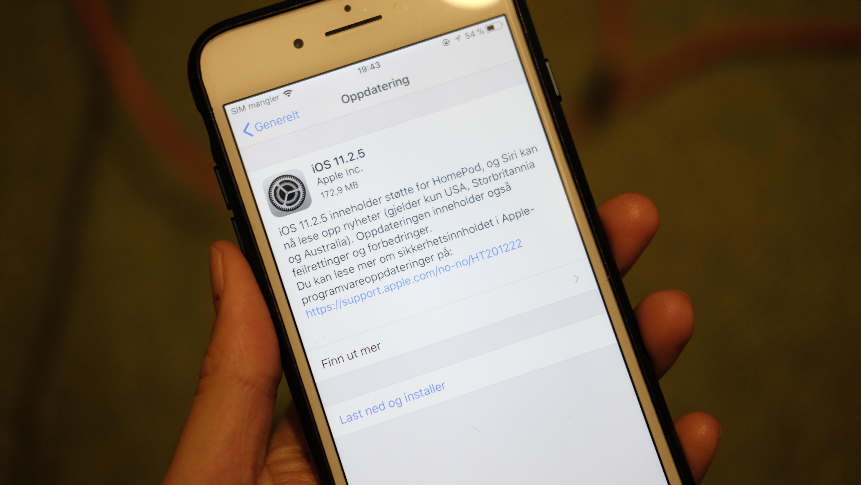 En ny utgave av iOS er klar for nedlastning.
