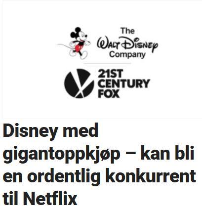 Disney jobber med en Netflix-konkurrent.