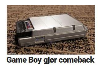 Game Boy gjør comeback.