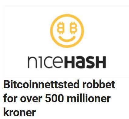 Nicehash robbet for millioner.