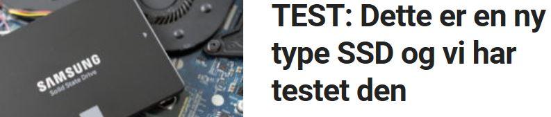 Vi tester den nye SSD-en til Samsung.