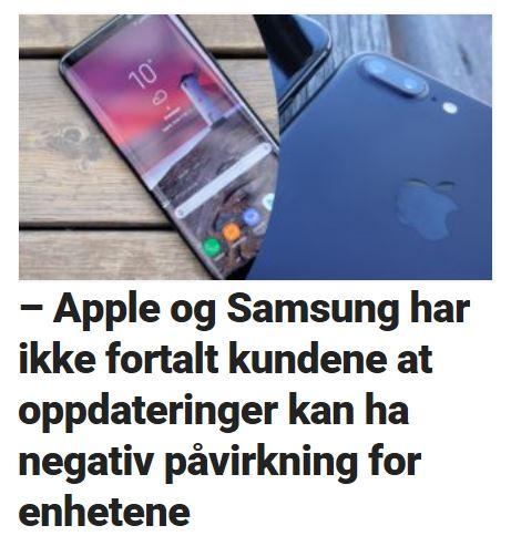 Samsung og Apple etterforskes.