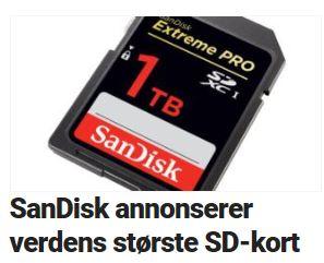 Her er SanDisks vanvittige SD-kort.