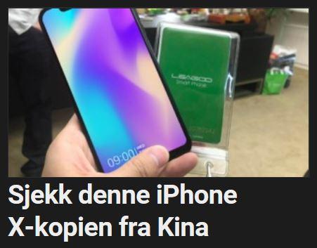 Denne produsenten kopierer iPhone X til gangs.