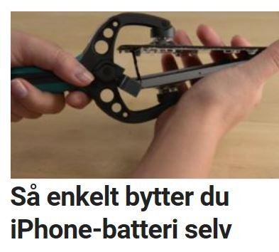 Slik kan du bytte iPhone-batteri.
