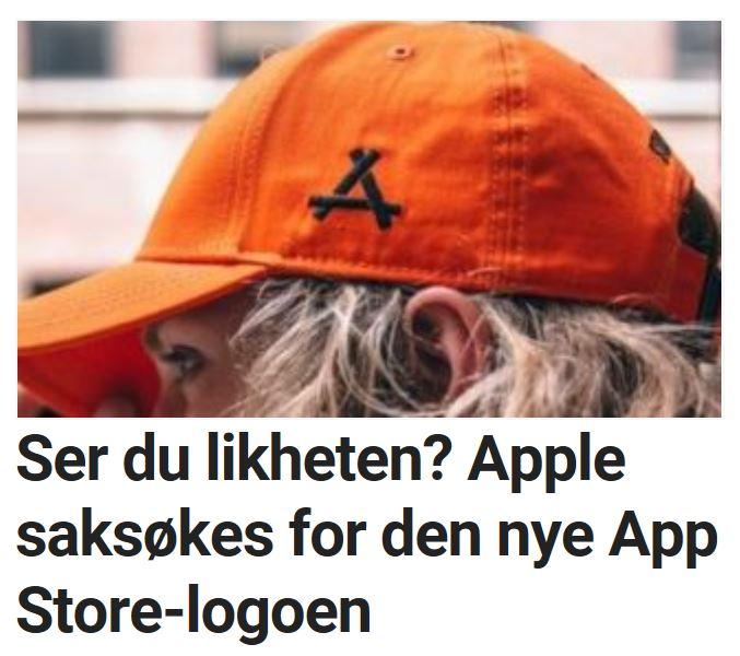 Apple saksøkes for App Store-logo.