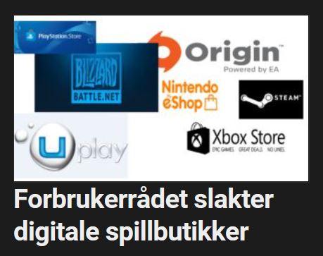 Forbrukerrådet slakte digitale spillbutikker.