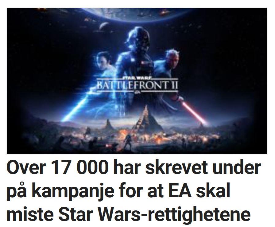 Spillerne raste mot EA etter Star Wars-kontroverser.