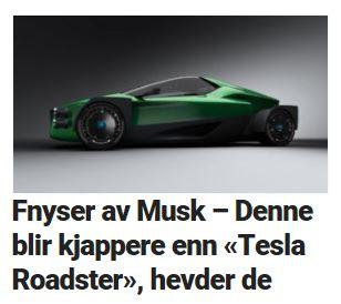 Hevder de jobber med en elsuperbil som blir raskere enn Tesla Roadster.